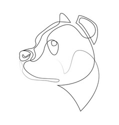 Continuous line pit bull single line minimal vector