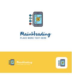 Creative money through smartphone logo design vector