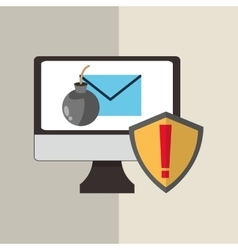 Cyber Security antivirus design vector image