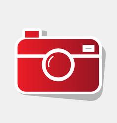 digital photo camera sign new year vector image