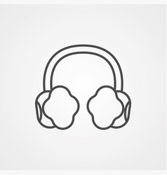 earmuffs icon sign symbol vector image