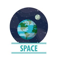 earth planet of milky way vector image