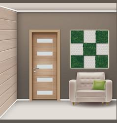 Eco-minimalist style room vector