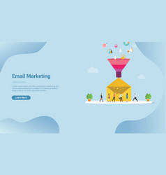 Email lead conversion marketing concept for vector
