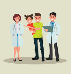 family dentist and nurse vector image