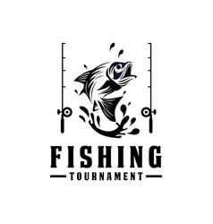 fishing logo design template sport vector image