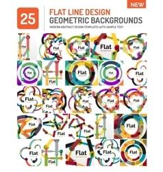 Flat line design background vector image