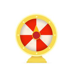 fortune wheel logo casino random winner slot vector image