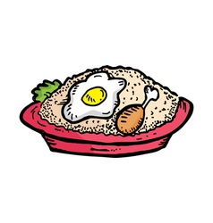 Fried rice vector