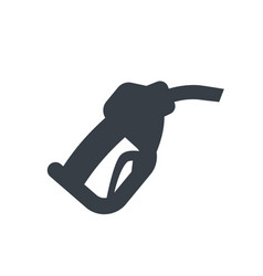 Gasoline nozzle gas station icon vector