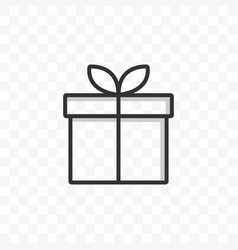 gift box icon on transparent background vector image