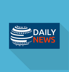 Global daily news logo flat style vector