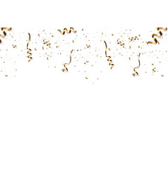 golden confetti isolated vector image