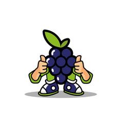 Grape fruit mascot design vector