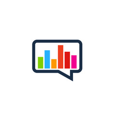 Graph chat logo icon design vector