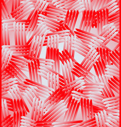 groups of red bars with random rotation vector image