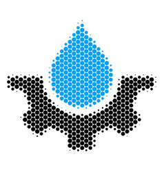 Halftone dot water service icon vector