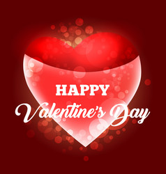 happy valentines day card template vector image