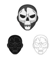 Hero and mask logo vector