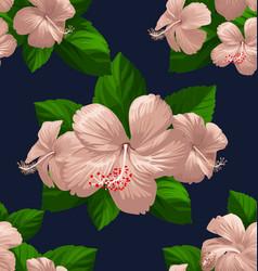hibicus flowers pattern 2 vector image
