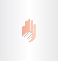human hand icon element vector image