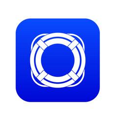 lifebuoy icon digital blue vector image