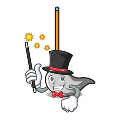 Magician mop mascot cartoon style vector