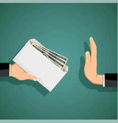 Man giving a bribe in an envelope vector
