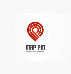 Map pin creative navigation symbol concept finish vector