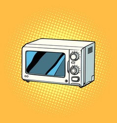 microwave oven kitchen equipment vector image