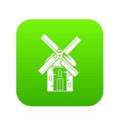 mill icon digital green vector image