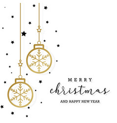 minimal elegant merry christmas background with vector image