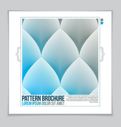 minimalistic brochure design web commerce or vector image