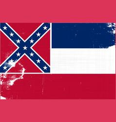 mississippi grunge flag vector image