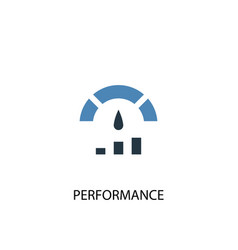 Performance concept 2 colored icon simple blue vector