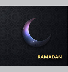 Ramadan background night view starry vector