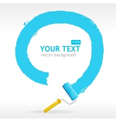 Roller brush for text vector
