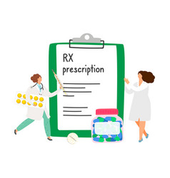 Rx prescription concept vector