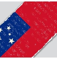 Samoan grunge flag vector