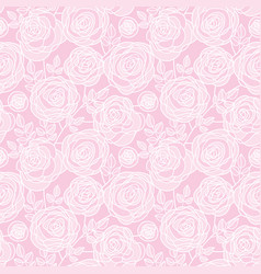 Simple pale color rose flowers seamless pattern vector