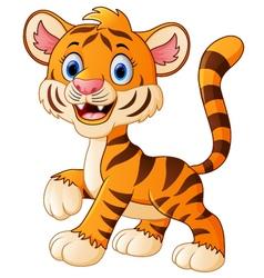 Smiling tiger cartoon vector