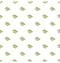 Sprig of olive pattern cartoon style vector