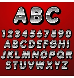 Stock font pointillism Letters and Numbers vector image
