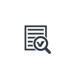 survey report document icon vector image