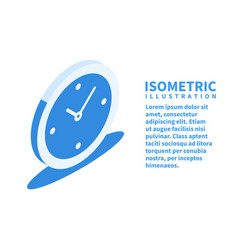 timer clock icon isometric template vector image