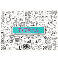 Tutoring on paper vector image