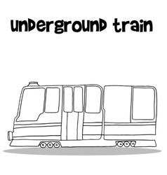 Underground train with hand draw vector