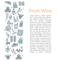 Vertical text card template fresh wine vector