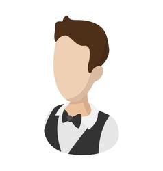 Waiter garcon cartoon vector