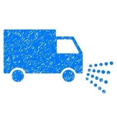 Washing Car Grainy Texture Icon vector image
